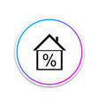 house with discount tag icon on white background vector image vector image