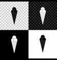 ice cream in waffle cone icon isolated on black vector image