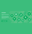 internet banner 10 icons concept ecommerce vector image vector image