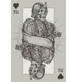 jack suit hearts vector image vector image