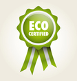 label eco certified vector image