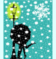 lamp post in the snow vector image vector image