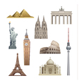 landmarks of the world vector image