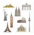landmarks world vector image vector image