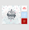 lettering christmas posters - merry christmas and vector image vector image