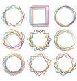 line shape art frame set 04 vector image vector image