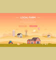 local farm - modern flat design style vector image vector image