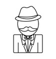 man with mustache icon vector image