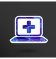 Medical care design over blue background vector image vector image