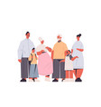 multi generation family happy grandparents parents vector image