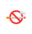 no smoking tobacco area icon stop smoke vector image