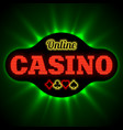 Online casino banner with playing card suit vector image