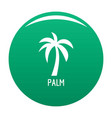 palm tree icon green vector image