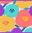 pattern with big pastel flower vector image vector image