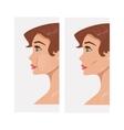 Plastic cheekbones vector image