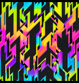 rainbow light space geometric pattern with grunge vector image vector image