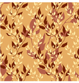 Seamless gold floral autumn pattern vector image