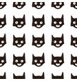 seamless pattern with cute hero mask in vector image