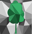 Seamless tree polygon pattern vector image