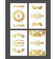 Set of Floral Decorative Logo Frame Border and vector image