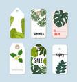 set of hand drawn summer vintage sale labels vector image vector image
