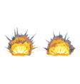 set of two bomb explosion vector image vector image