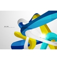 Shiny wave modern motion template vector image vector image