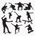 skate board 1 silhouettes vector image vector image