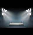 stage podium with light presentation pedestal vector image