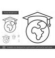 Study abroad line icon vector image vector image