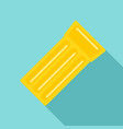 swimming mattress icon flat style vector image