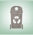 trashcan sign brown flax vector image