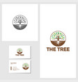 tree icon design template vector image vector image