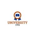 university emblem logo vector image