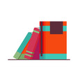 various books stack books notebooks set for vector image vector image