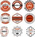 vintage label design guarantee vector image