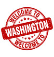 Welcome to washington vector image