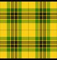 yellow and green tartan plaid seamless pattern vector image vector image