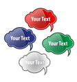 A collection of glossy speech bubbles White vector image