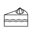 Cake outline icon vector image