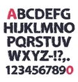 Ink Drawing Alphabet vector image