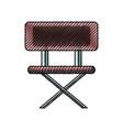 school chair vector image