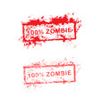 red grunge rubber stamp 100 zombie used for vector image