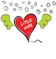 little hope in heart cartoon vector image