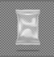 3d realistic transparent pillow plastic food bag vector image vector image