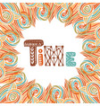 abstract autumn frame time doodle lettering vector image vector image