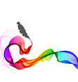 Abstract color background with wave and feather vector image vector image