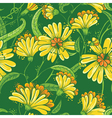 Abstract seamless floral pattern in a doodle style vector image vector image