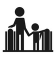 adult with child escalator icon simple style vector image vector image