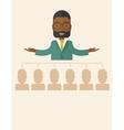 African-american man giving a buisness speech vector image vector image